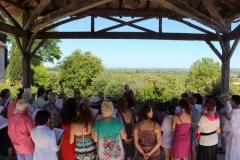 2017 la chorale sous la halle du village